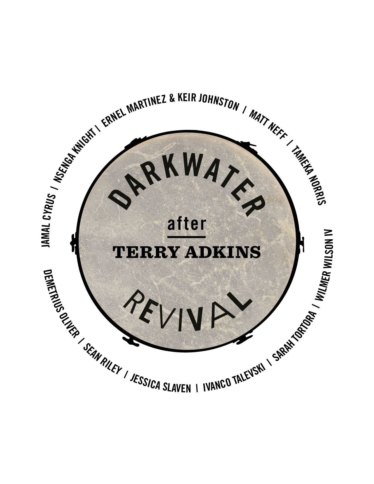 Darkwater Revival Logo with Artists